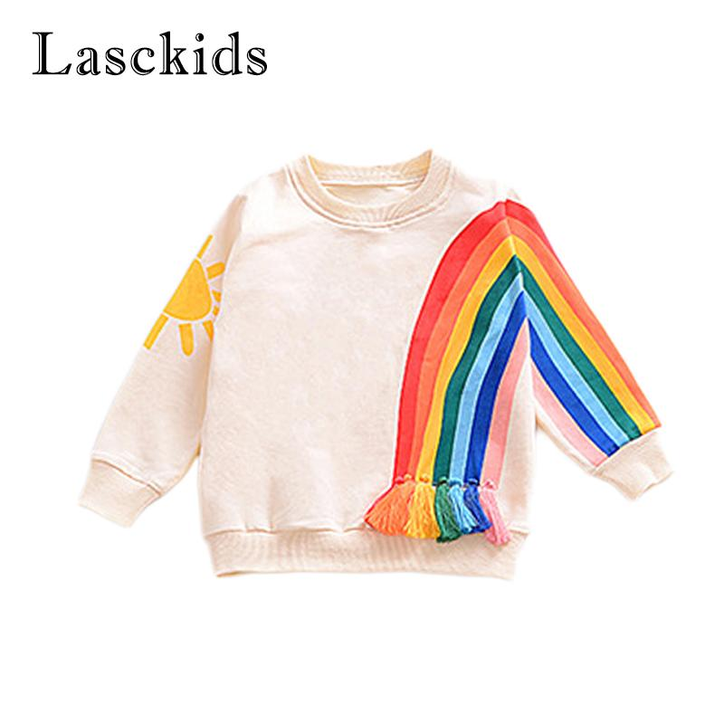 08f9b8348 Baby Girls Boys Rainbow T Shirt Coat Sports T Shirts Cotton Long Sleeve  Spring Kids Top Boy T Shirt Causal Children Clothing Knitting Pattern Girls  Sweater ...