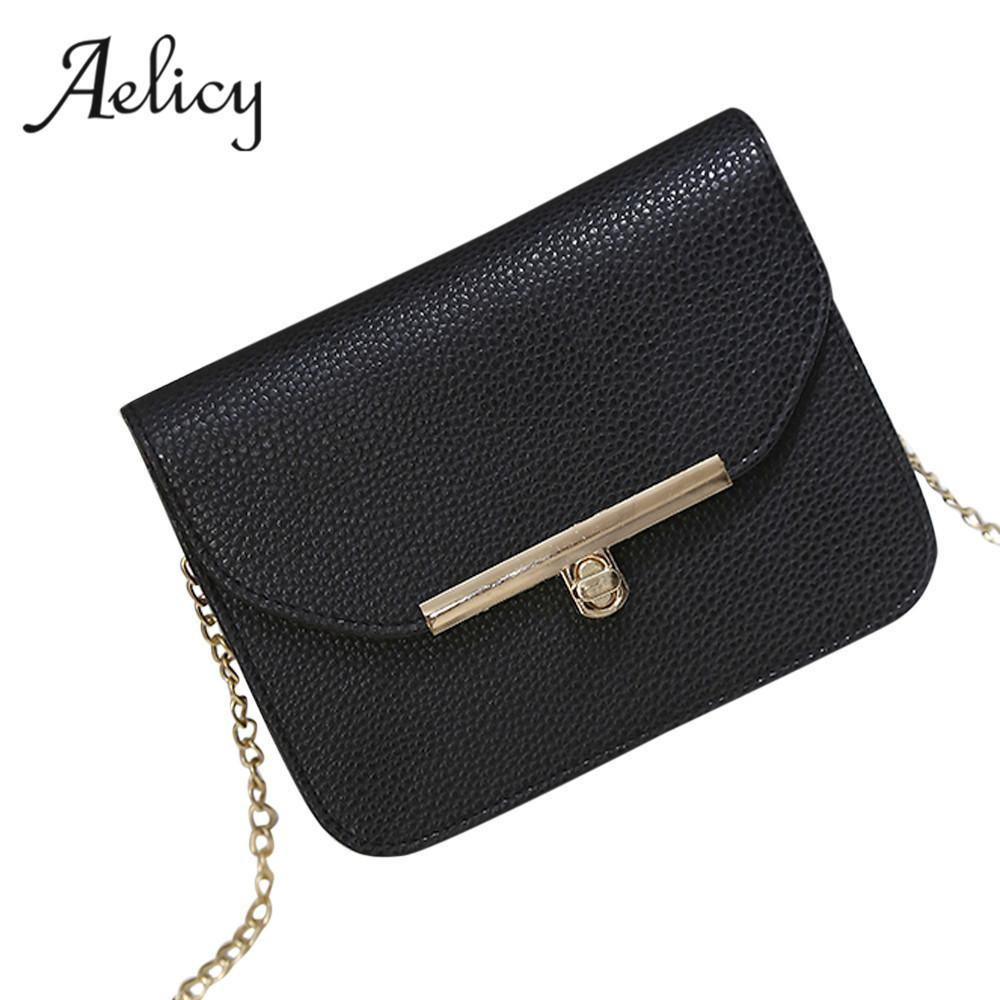 48999913c Aelicy Luxury Small Designer Chain Women Bag Women Handbag Hasp PU Leather  Solid Chains Ladies Women's Purses And Hand Bags Men Bags Handbag Wholesale  From ...