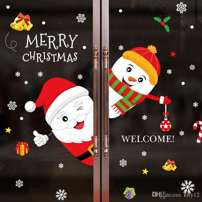 Großhandel Neue Frohe Weihnachten Vinyl Weihnachtsmann Schneemann ...