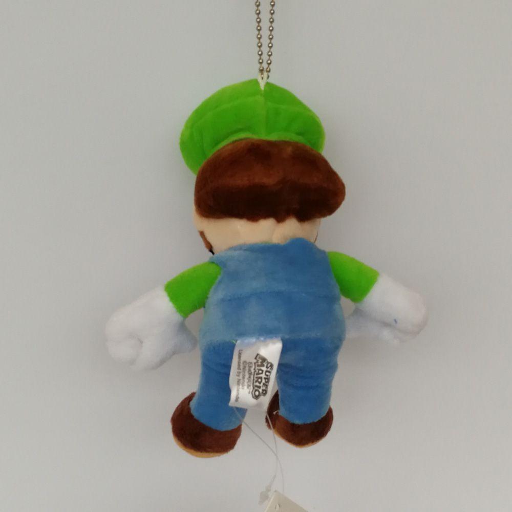 Hot Sale 13CM Super Mario Bros Mario Luigi keychain Pendant Plush Stuffed Doll Toy For Kids Best Holiday Gifts Wholesale