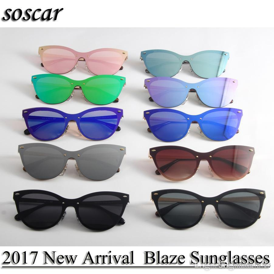 597a699b53ba Soscar 3580 Cat Eye Sunglasses for Women Fashion Blaze Sunglasses ...