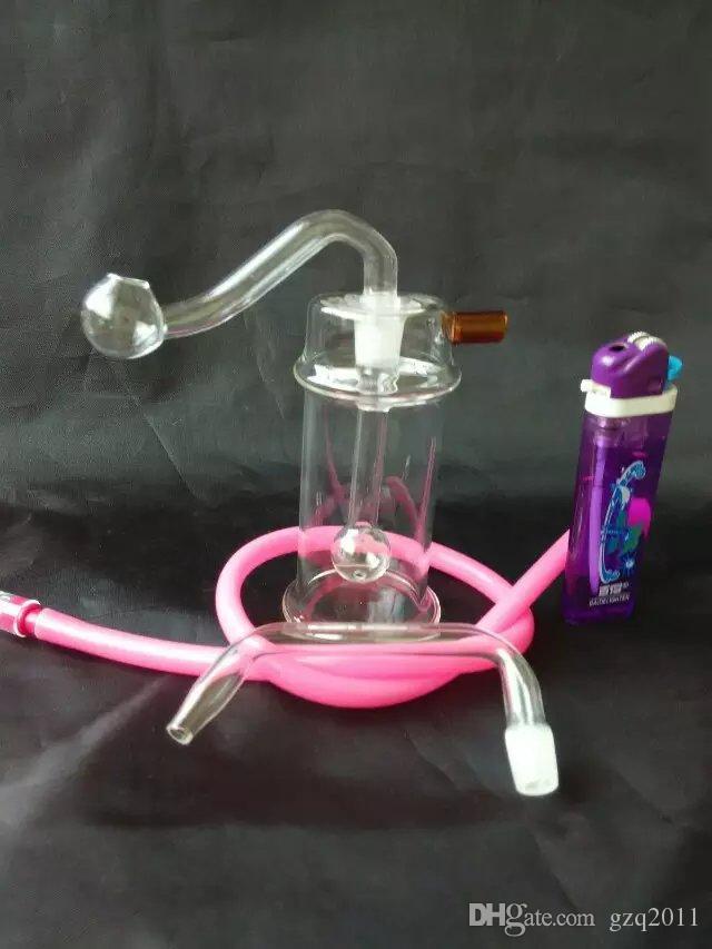 Büyük içbükey cam su şişesi Toptan Cam bongs Yağ Burner Cam Su Boruları Petrol Kuleleri Sigara Ücretsiz