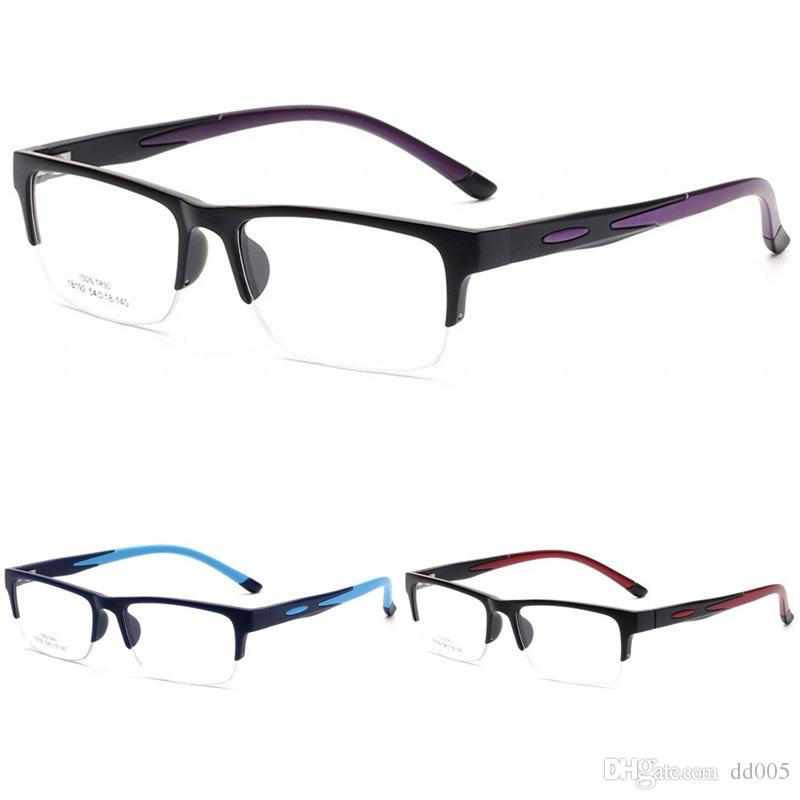 8c3d6c335ac 2019 Half Frames Myopia Glasses Men And Women Square Eyeglasses Non Slip  Silicone Optics Spectacle Colourful Hot Sale 15cr C From Dd005