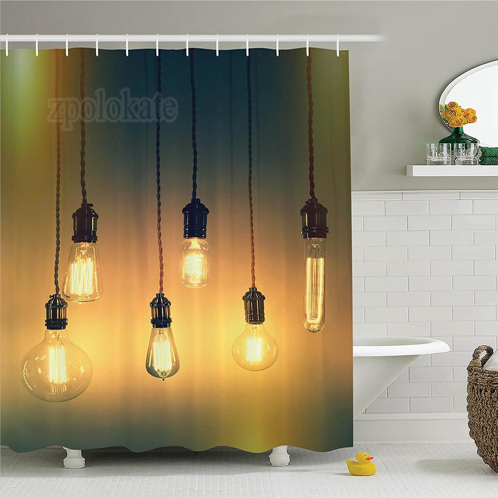 2019 Industrial Decor Shower Curtain Set Retro Style Lighting Lamps Hanging Picture Original Concept For A Modern Art Design Bathroom From Gor2don