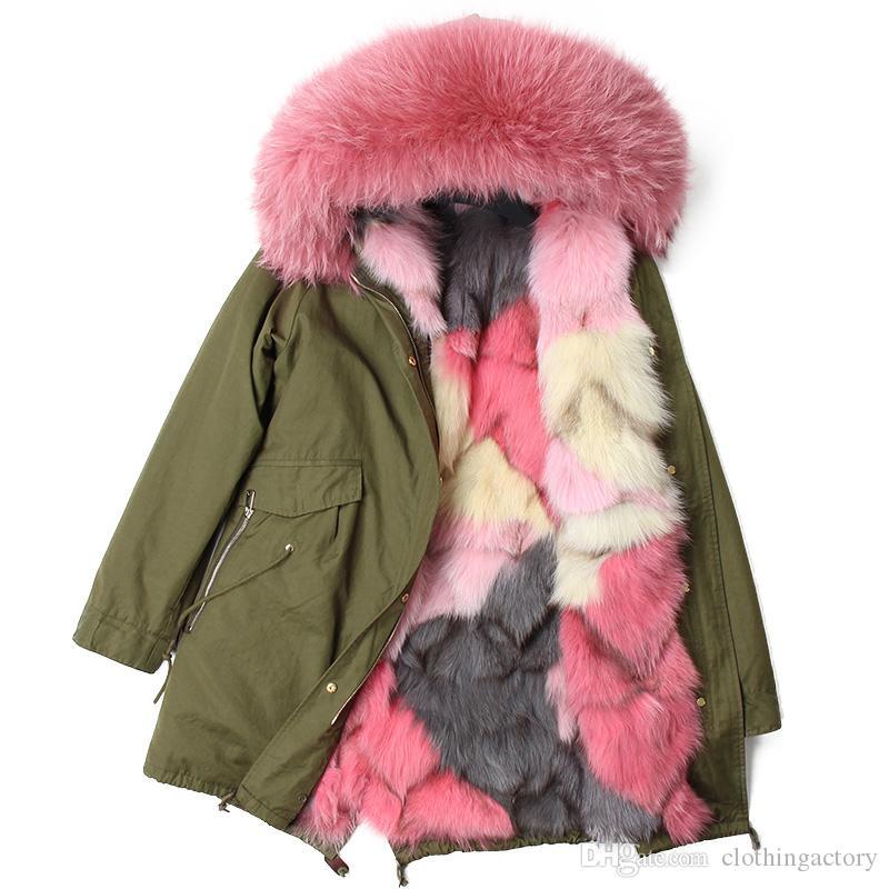 Aus Dem Ausland Importiert Raccoon Pelz Fuchs Mantel Jacken, Mäntel & Westen