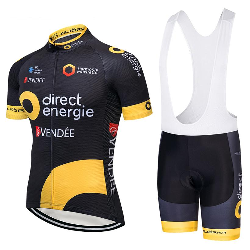 399841821 2019 TEAM Direct Energie Cycling Clothing Bike Jersey Ropa Ciclismo Men S Bicycle  Summer Cycling Jersey 9D Gel Pad Bike Shorts Kit Biker T Shirts Sports ...