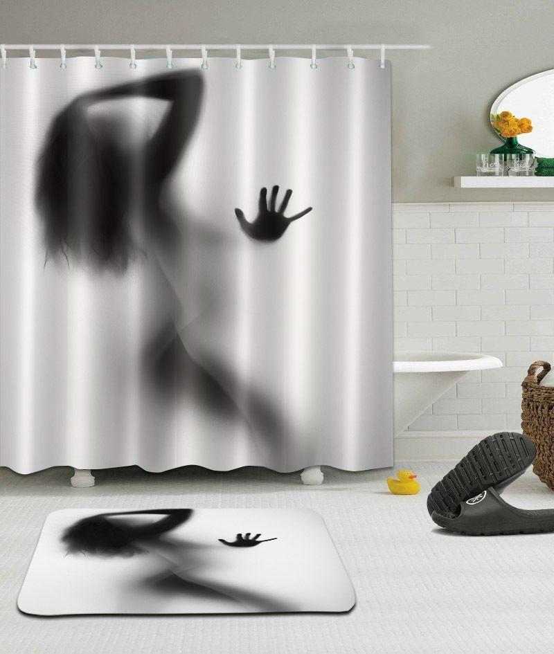 2019 Design Sexy Woman Silhouette Bathroom Shower Curtain Waterproof Mildew Resistant Antibacterial Can Be Custom From Taoliufang