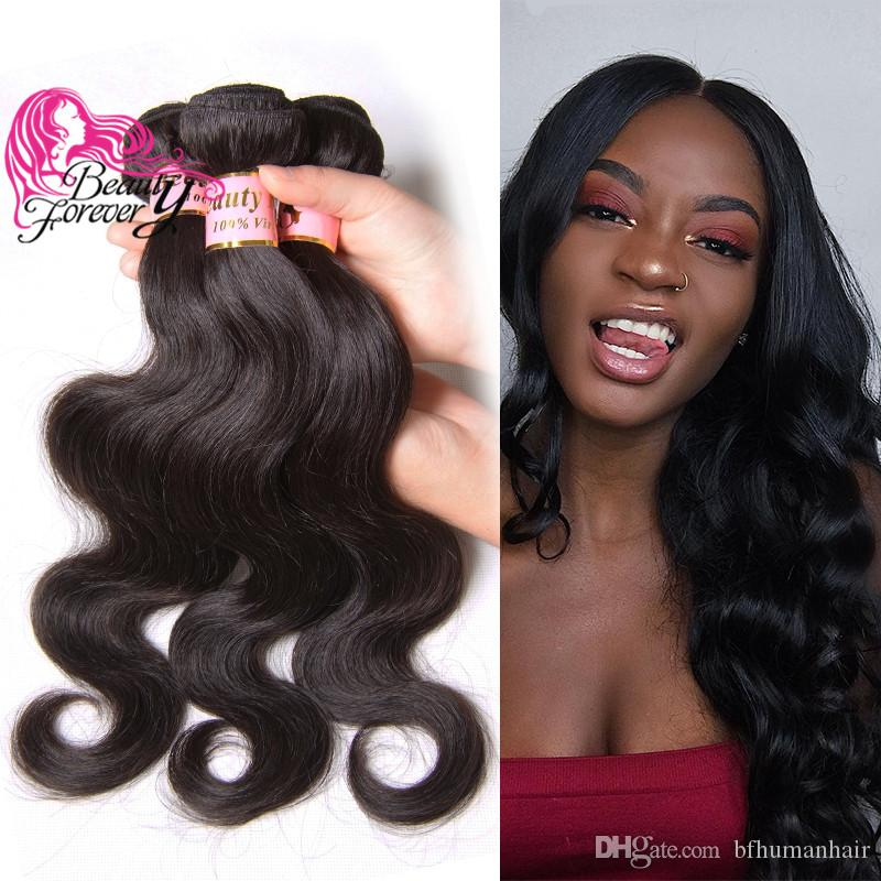 Beauty Forever 8a Brazilian Body Wave Natural Color Human Hair