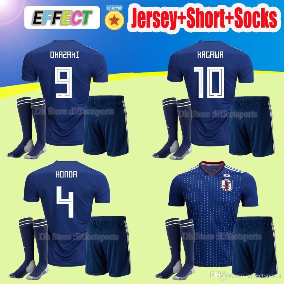 0f85edb4c6f ... 2018 world cup japan soccer jerseys home blue adult kit with socks  maillot foot 2017 2018