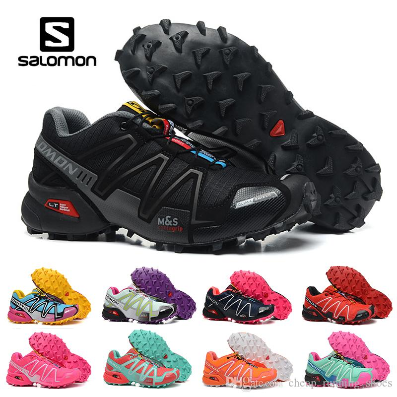 2018 Salomon Speed Cross 3 CS III Running Shoes Black Silver Red Pink Blue  Women Outdoor SpeedCross 3s Hiking Womens Sports Sneakers East Bay Shoes  Shop ... 111ec2f8f2