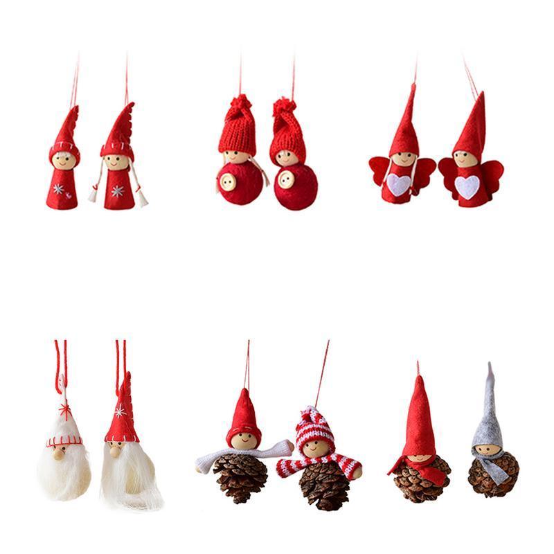 Compre 2 UNIDS No Tejido Ornamento Del Árbol De Navidad Decoración ...
