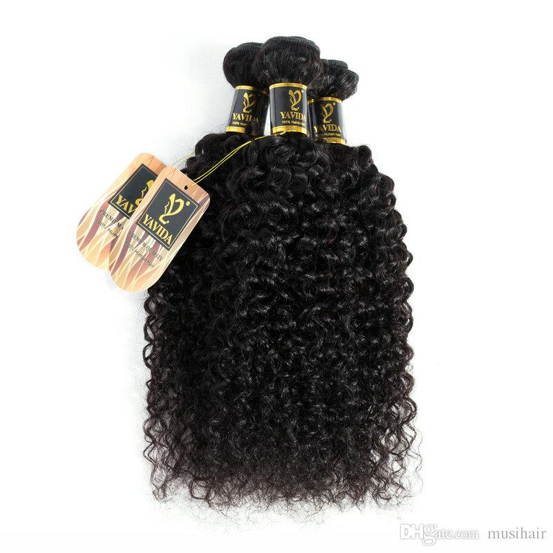 Fulgent Sun Wholesale Curly Human Hair Afro Kinky Hair Extensions 3