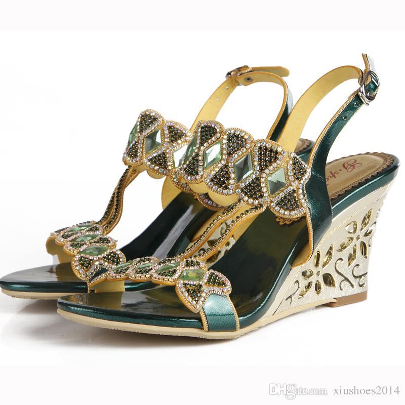 Compensées Sandales Femme Talons Hauts À Bretelles Robe D/'Été Fête Gladiateur Chaussures Siz