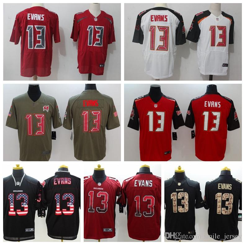 Mens 13 Mike Evans Tampa Bay Jersey Buccaneers Football Jersey 100 ... 0e945d262c