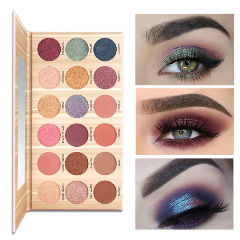 Eye Shadow Beauty Essentials 2019 Smoky Cosmetic Set Glitter Shimmering Colors Eyeshadow Professional Natural Matte Makeup Eye Shadow Party Makeup Eyeshadow Up-To-Date Styling