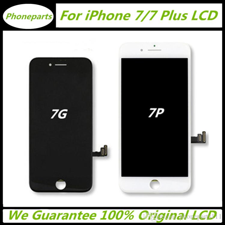 new product b9a83 a2d18 100% Original LCD With Perfect Backlight For iPhone 7 7 Plus Display Touch  Digitizer Complete Screen + Frame Full Assembly Replacement Parts
