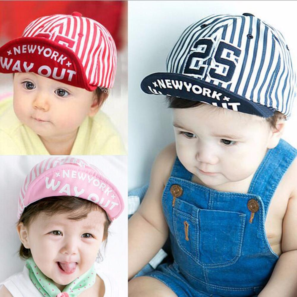 5b5fc980bc4 2019 Puseky 2018 Cute Summer Newborn Baby Hat GirlS BoyS Digital 25 Striped  Baseball Cap Infant Coon Unisex Toddlers Sun From Fkansis