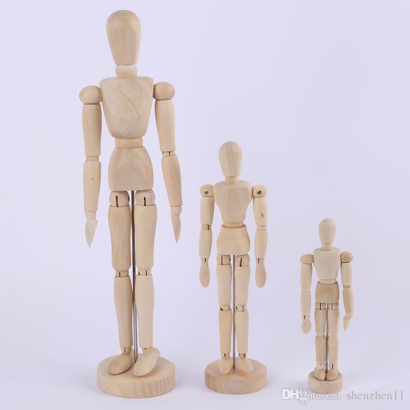 Artista Movible Extremidades Figura de Juguete De Madera Masculina Modelo Maniquí bjd Arte Sketch Dibujar Figuras de Acción de Juguete 5.5-8 pulgadas OTH881