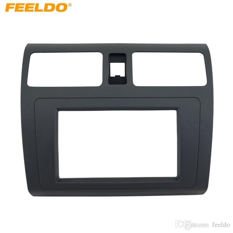 FEELDO Car DVD/CD Radio Stereo Fascia Panel Frame Adaptor Fitting Kit For  SUZUKI Swift Black #4396