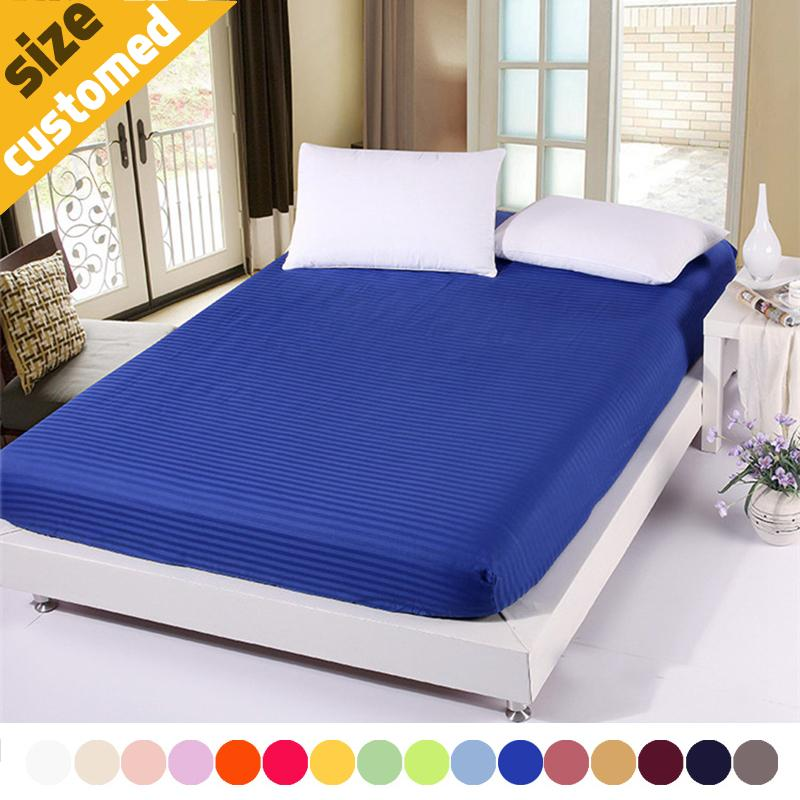 Custom Size Solid Satin 100% Cotton Bed Fitted Sheets Home Textile Bed  Protector Sheet Hotel Bedspread Home Textile Bed Bedspreads Cotton  Bedspreads Online ...