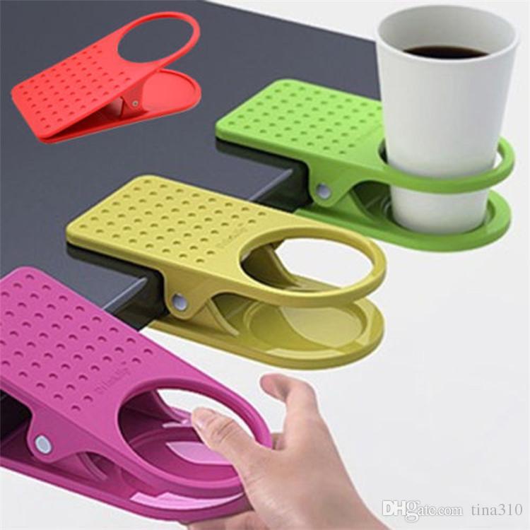 Tavolo Edge Clip Plastic Originalità Multicolors Large Office Kitchen Accessori desktop Salva spazio Cup Holder Decor T2I231 pratico