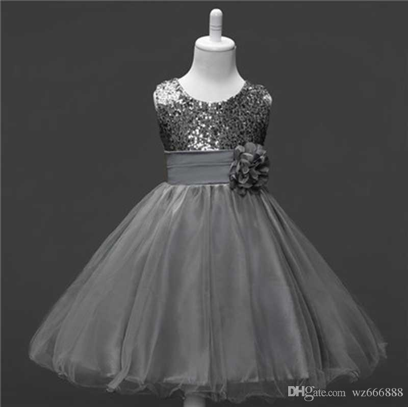 2018 New Teenage Girl Dress Summer Tulle Flower Princess Dress Little Girls Evening Party Prom Gown Dresses Girls Kids Clothing