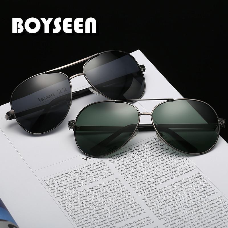 aebbb310abd9 BOYSEEN 2018 Newest Fashion Ocean Polarized Sunglasses For Women Metal  Frame Sunglasses Lens Sun Glasses Glasses 012 Sunglasses For Women Cat Eye  Sunglasses ...