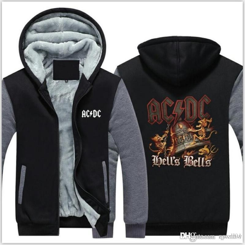 ad782a309cd1 2019 Hot Design AC DC Bell Skull Mens Hoodies I Got My Bell 2018 Winter  Thicken Zipper Man Sweatshirt USA Size A From Qwzh01