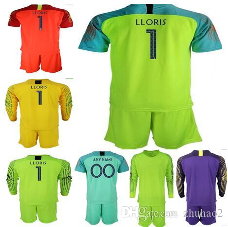 a8983868f 2019 Best Quality 2 Stars 2018 World Cup Goalkeeper Jerseys #1 LLORIS Goalie  T Shirt Adult Men Soccer Kits GRIEZMANN MBAPPE POGBA From Zhuhao2, ...