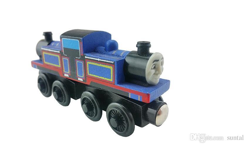 Деревянные игрушки транспортные средства деревянные поезда модель игрушки магнитный поезд большие дети рождественские игрушки подарки для мальчиков девочек
