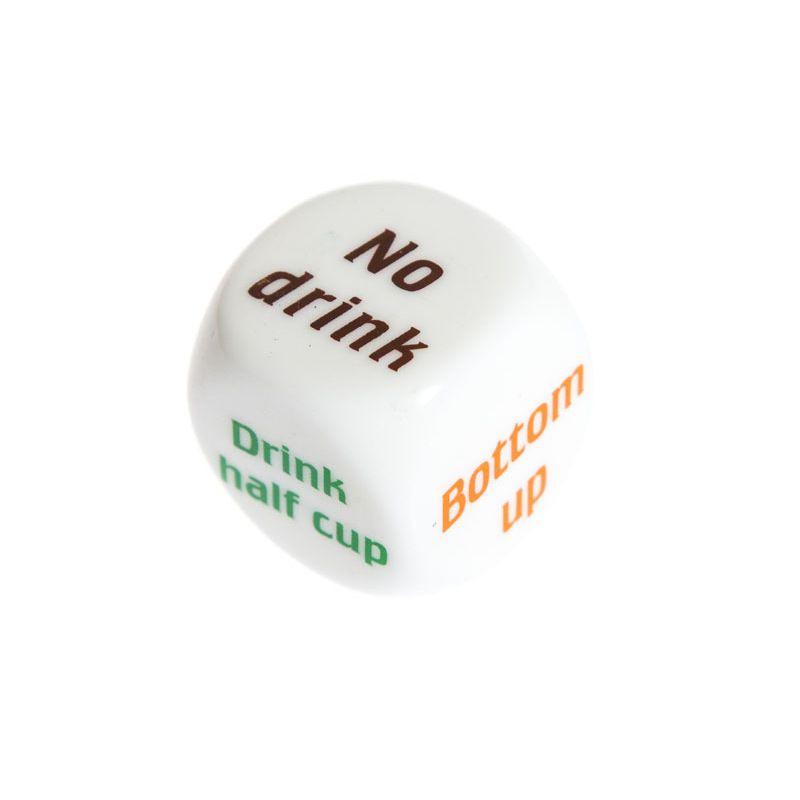 Party Drink Decider Dice Games Pub Bar Fun Die Toy Gift KTV Bar Game Drinking Dice 2.5cm