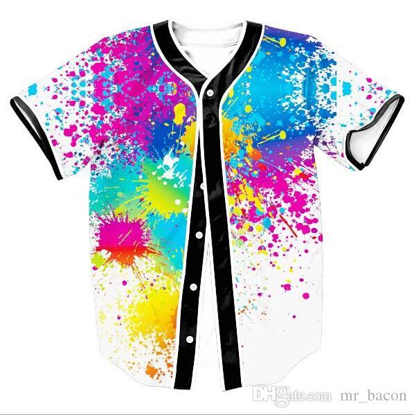 Paesaggio Floral Print Beach T-shirt 3d galaxy t-shirt camiseta homme t-shirt di lusso da uomo di marca a contrasto nero top