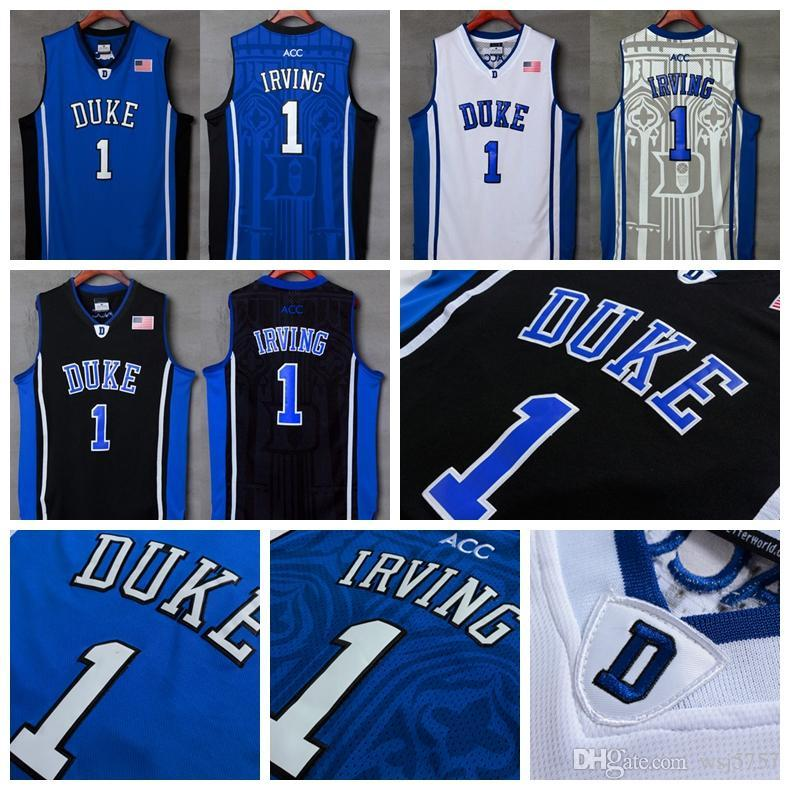 4895942290d3 ... official mens duke blue devils college ncaa 1 kyrie irving jersey blue  white black kyrie irving