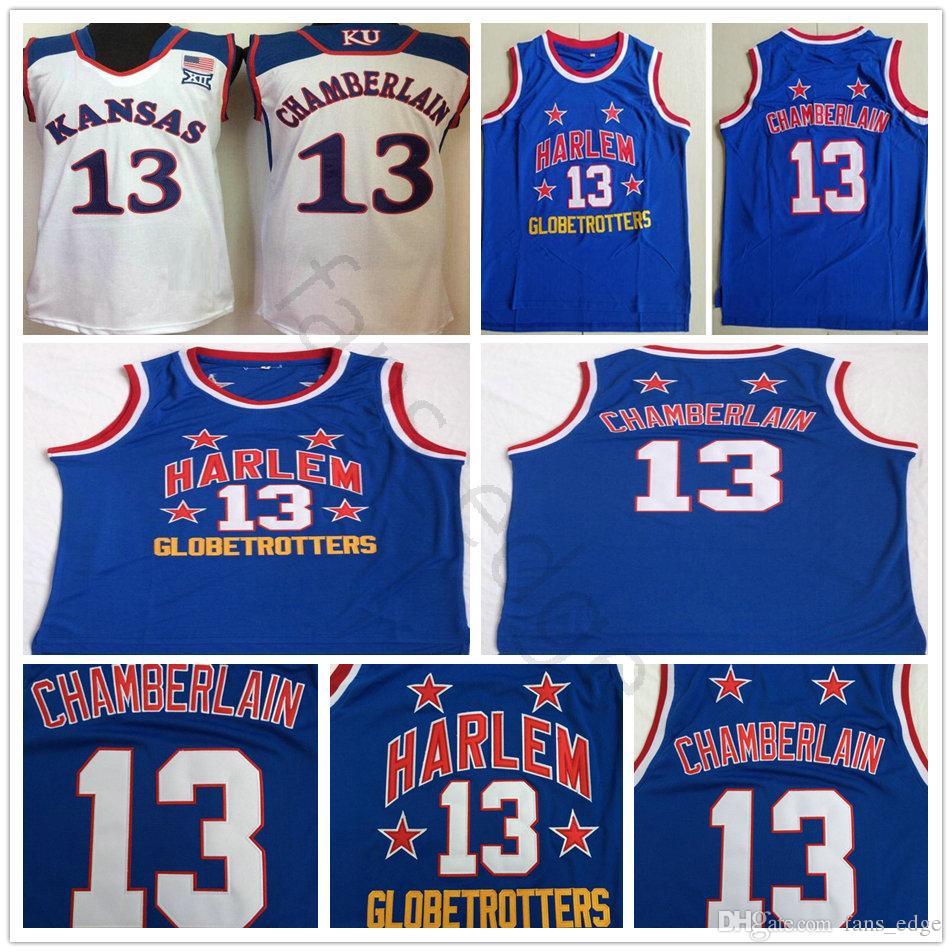 b546d28ba ... cheapest 2019 ncaa harlem globetrotters 13 wilt chamberlain blue basketball  jersey stitched kansas jayhawks college wilt