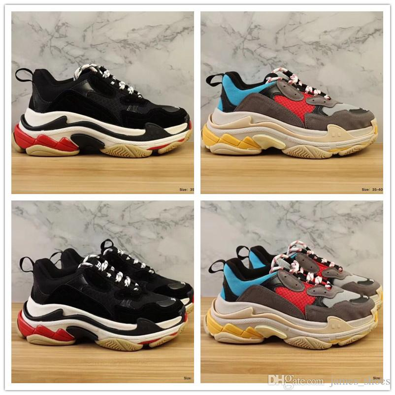 2018 New Fashion Paris Triple-S Sneaker Luxury Designer Casual Dad Shoes for Top quality Black Brown Womens Brand Sports Sneakers SIZE 35-39 free shipping 2014 clearance sneakernews new arrival for sale enjoy sale online clearance fashion Style poTd5ZhRP