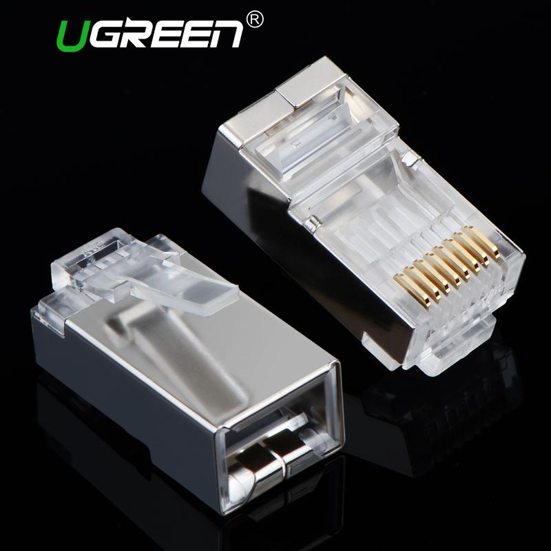 Ugreen Cat6 Rj45 Connector 8p8c Modular Ethernet Cable Head Plug ...