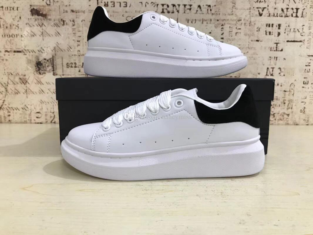 2018 New Women Casual Shoes Men Sneakers Brand White Shoes for Teenager Luxury Flat Shoes Female White Sneakers Size 35-43 cheap sale top quality GkfNB