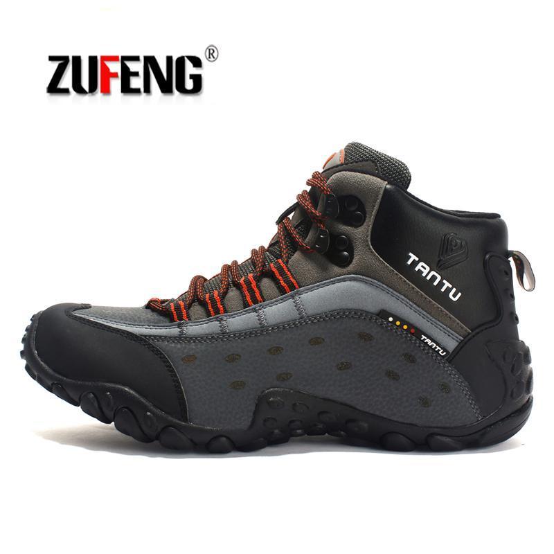 quality design e9c26 ddd4a Turnschuhe Wasserdichte Wanderschuhe Für Männer Wildleder Bergsteigen  Schuhe Qualität Trekking Atmungsaktive Wanderschuhe Jagdstiefel