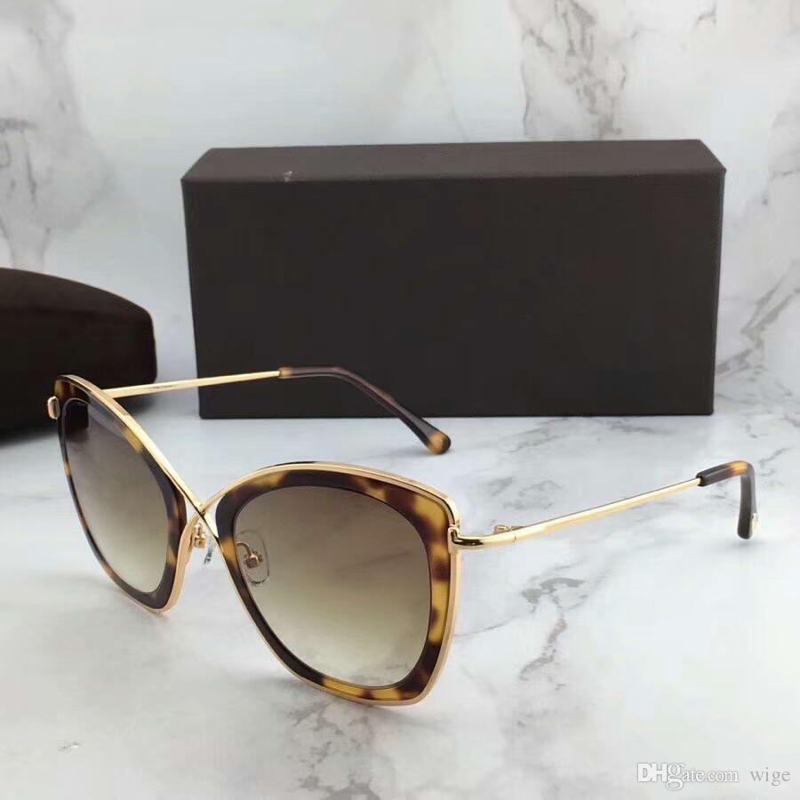 88b8ee7333a Women INDIA-02 FT 0605S Butterfly Sunglasses Havana Brown Gradient ...