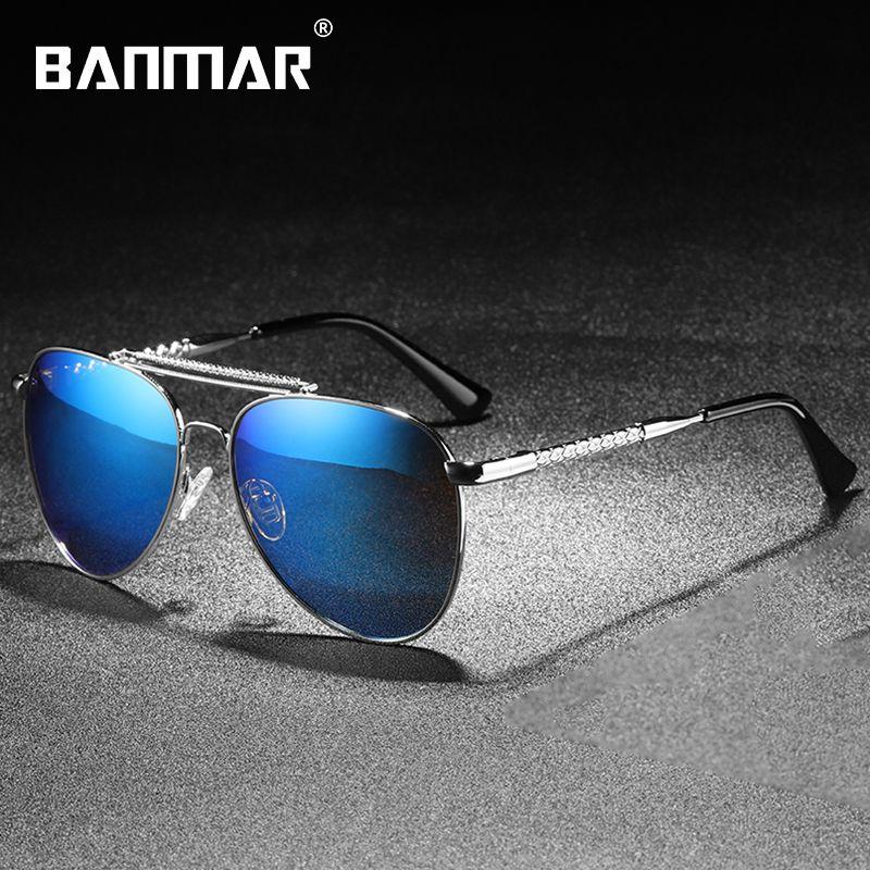dd820c0df BANMAR Pilot Sunglasses Men Polarized Women Brand Designer Sun ...