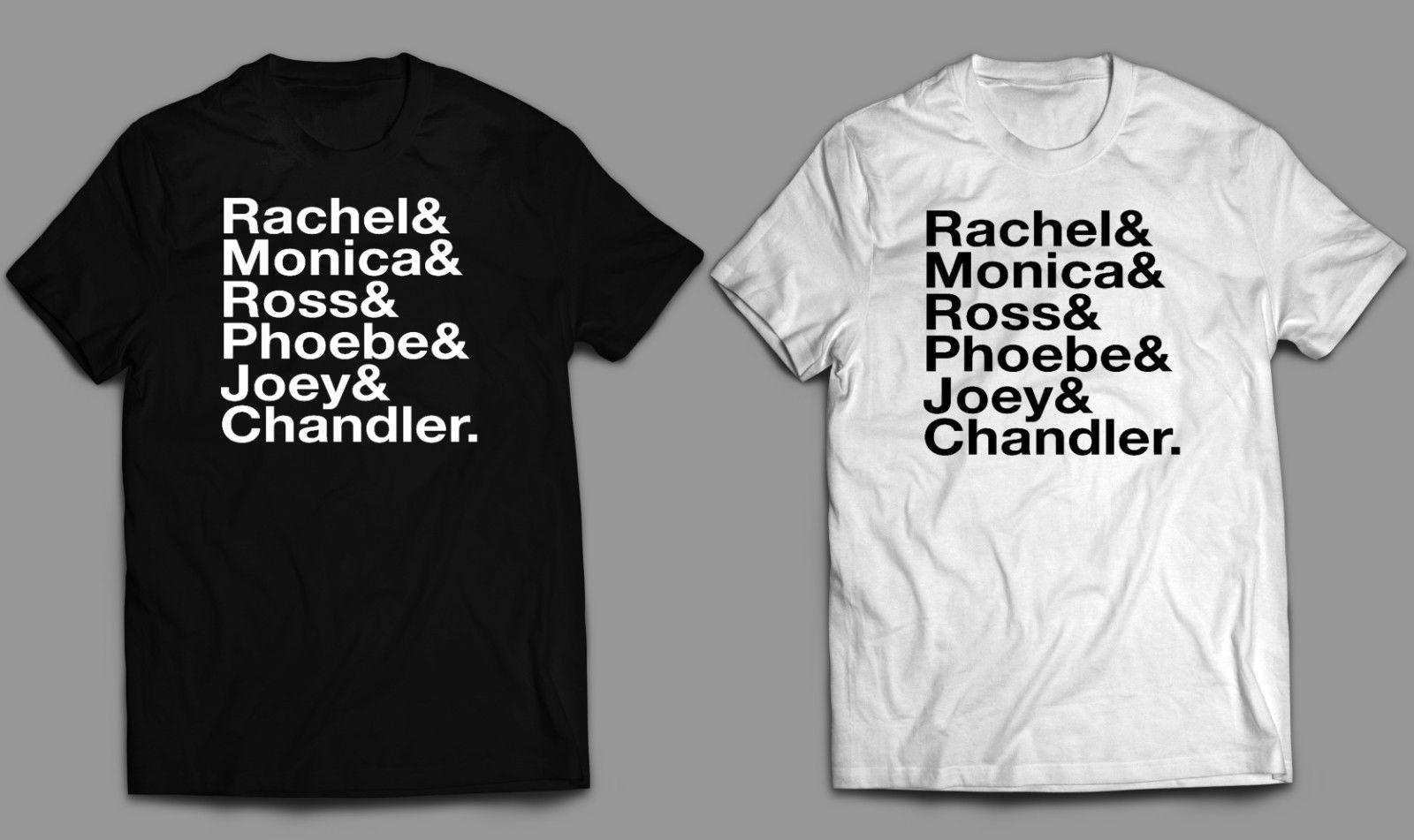 24d9d4aaae3 Friends TV Show T Shirt Or Iron On Diy Transfer Ross Rachel Joey Chandler  Monica Funny Unisex Casual Tee Gift Top Comedy T Shirt Humorous T Shirt  From ...