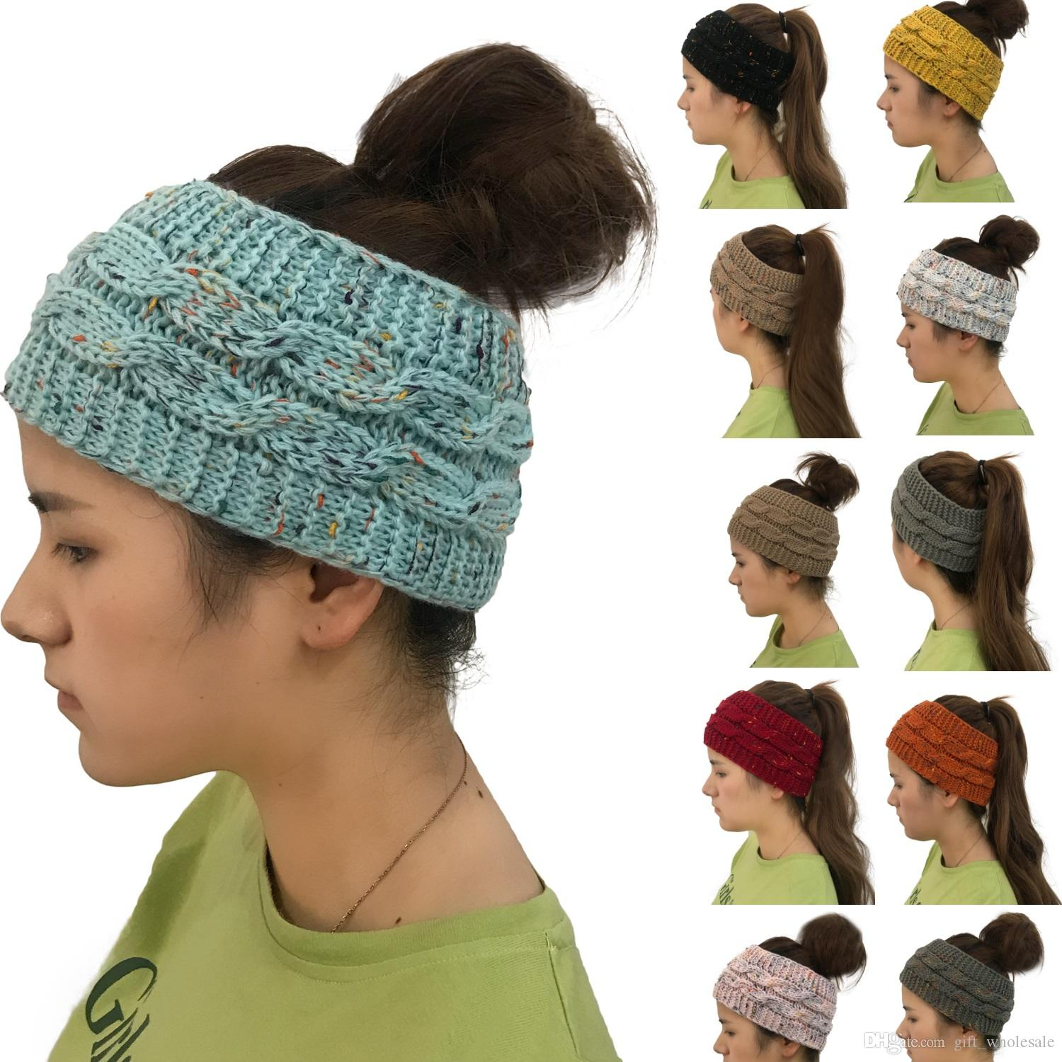 2019 DHL Free Knitted Crochet Headband Women Winter Sports Headwrap  Hairband Turban Head Band Ear Warmer Women Cap Headbands From  Gift wholesale 4f8765841