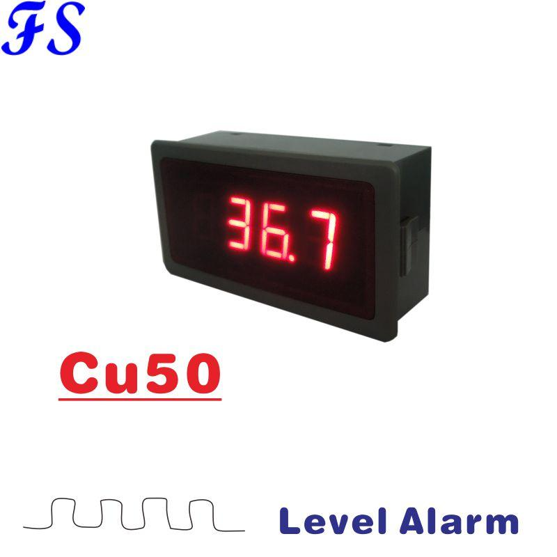 Digital Temperature Meter Gauge LED Display for Cu50 Universal Type  Thermocouple Probe Celsius Fahrenheit Thermometer 79*43*25mm