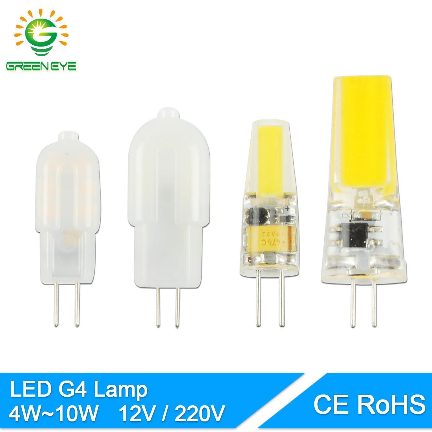 Lampadine Led G4 12v.Greeneye G4 Dimmable Ac Dc 12v 220v Mini Led G4 Lamp Cob Led Bulb 4w