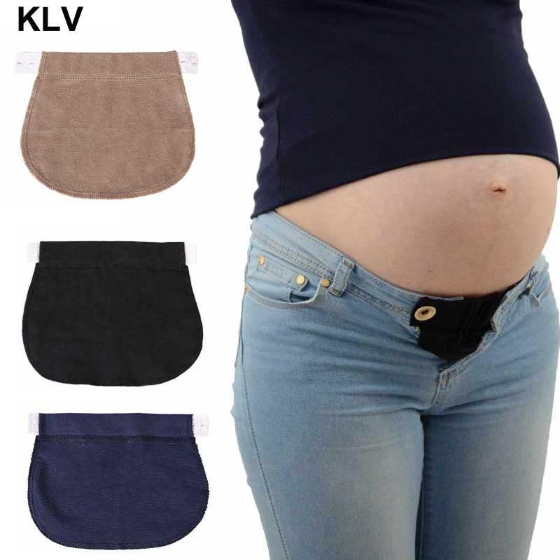 1f7d2f2be Compre Pantalones De Maternidad Embarazadas Cinturón Elsatic Cintura  Extender Botón Ropa Cómoda A  32.86 Del Jamani3