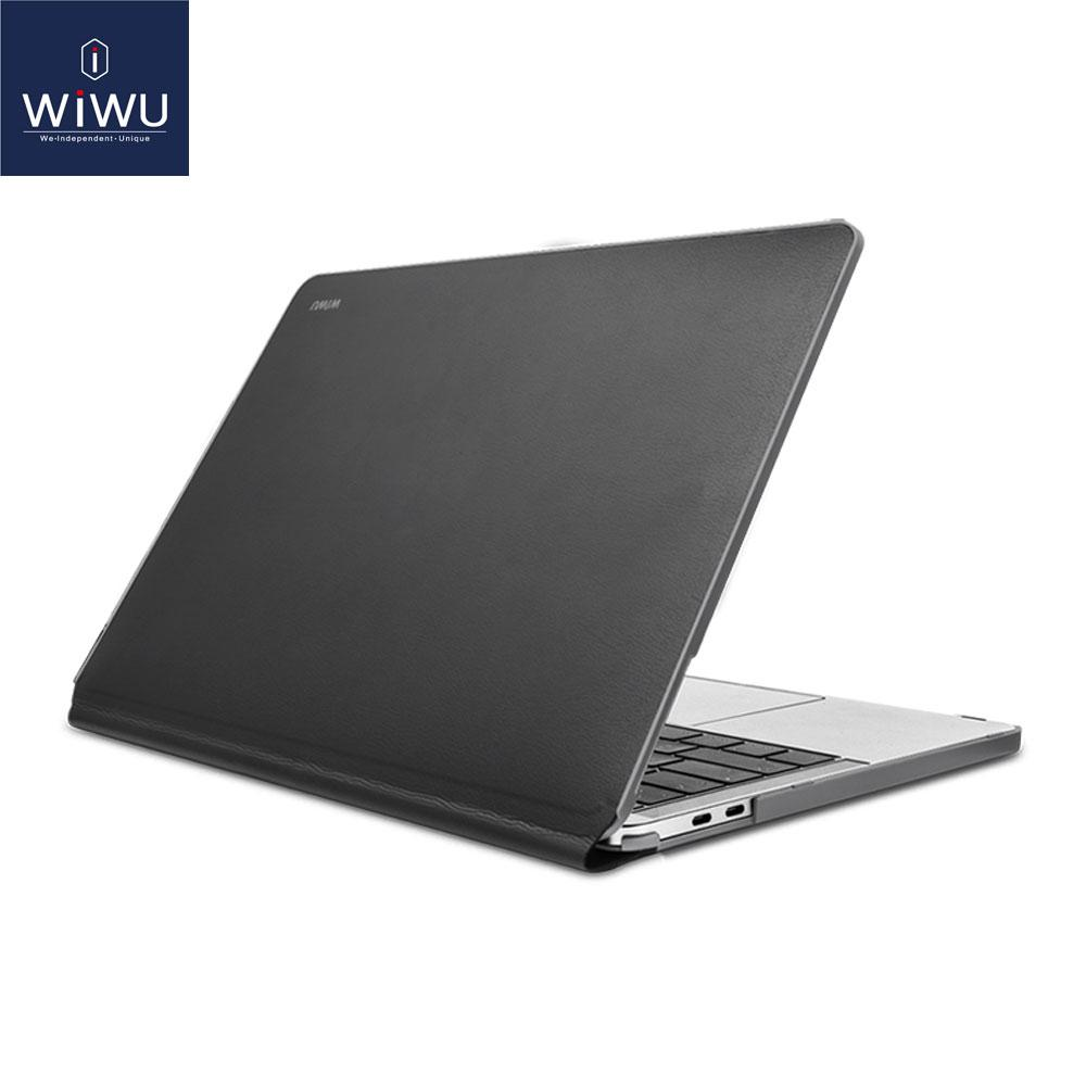 free shipping 1d033 3d503 WIWU Laptop Sleeve for MacBook Pro 13 Waterproof PU Leather Hardshell Case  for MacBook Pro 13 Inch A1706 A1708 Full Protection