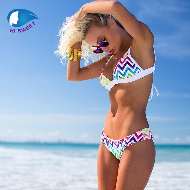 05c38c80c43e0 2019 Treasity Rainbow Bikini 2018 Sexy Swimwear Women Brazilian Secret  Women Mini Micro Bikini Set Swimsuit From Linyoutu1