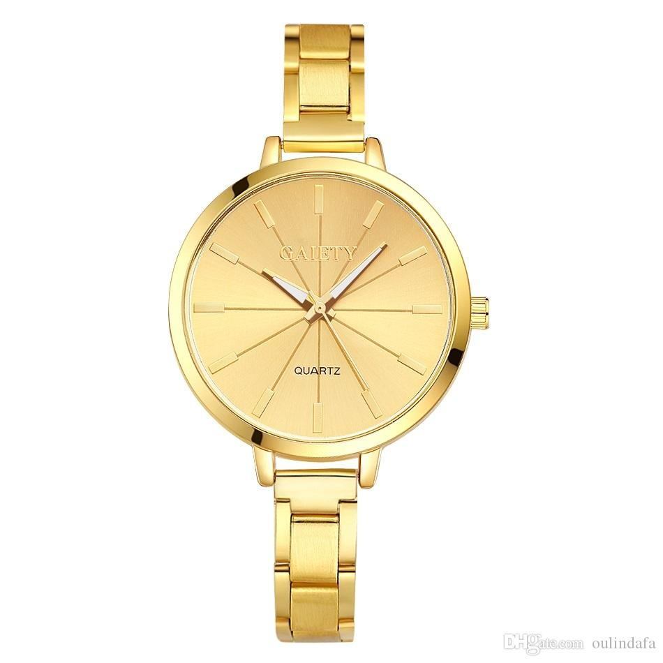 5b5a66bb37e Women Stainless Steel Watches Ladies Top GAIETY Brand Luxury Clock ...
