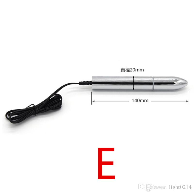 Electric Shock Pulse Physiotherapy Anal Plug Metal Beads Physiotherapy Massager Masturbation Device Sex Toys for Couple I9-1-199