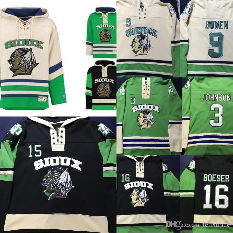 2019 NORTH DAKOTA FIGHTING SIOUX Hockey Hoodie 9 Jonathan Toews 11 Zach  Parise 7 TJ Oshie 16 Boeser 33 Johnson Hoodies Jerseys Any Name   Number  From ... 638ac530f